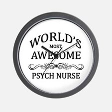 World's Most Awesome Psych Nurse Wall Clock