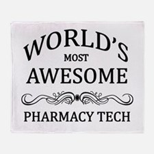 World's Most Awesome Pharmacy Tech Throw Blanket