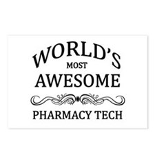 World's Most Awesome Pharmacy Tech Postcards (Pack