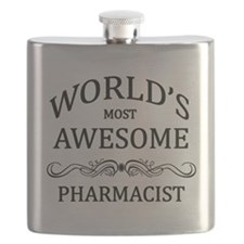 World's Most Awesome Pharmacist Flask