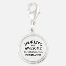 World's Most Awesome Pharmacist Silver Round Charm
