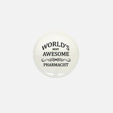 World's Most Awesome Pharmacist Mini Button (100 p