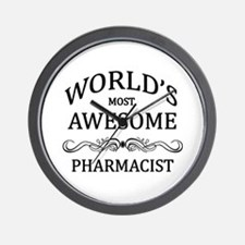 World's Most Awesome Pharmacist Wall Clock
