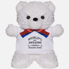World's Most Awesome Pediatric Nurse Teddy Bear