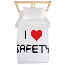 i love safety Twin Duvet