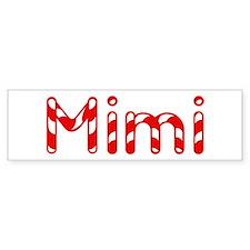 Mimi - Candy Cane Bumper Car Sticker