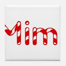 Mimi - Candy Cane Tile Coaster
