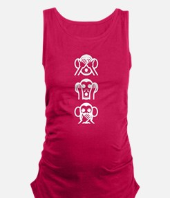 Three Wise Monkeys Emoji Vertical Maternity Tank T