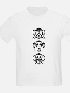 Three Wise Monkeys Emoji Vertical T-Shirt