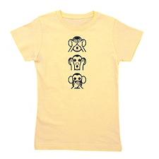 Three Wise Monkeys Emoji Vertical Girl's Tee