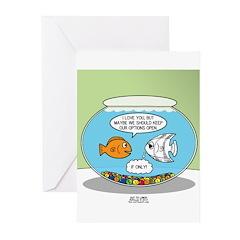 Fishbowl Relationships Greeting Cards (Pk of 20)