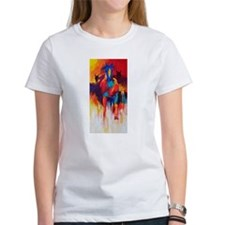 blue diamond psychedelic horse T-Shirt
