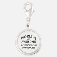 World's Most Awesome Oncologist Silver Round Charm