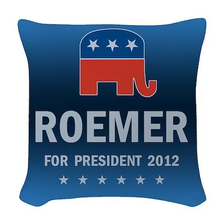 Buddy Roemer For President Woven Throw Pillow