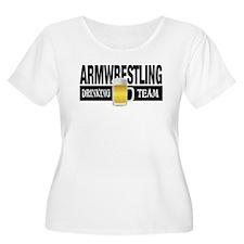 Arm Wrestling Drinking Team Plus Size T-Shirt