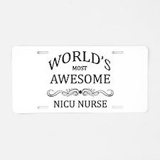 World's Most Awesome NICU Nurse Aluminum License P