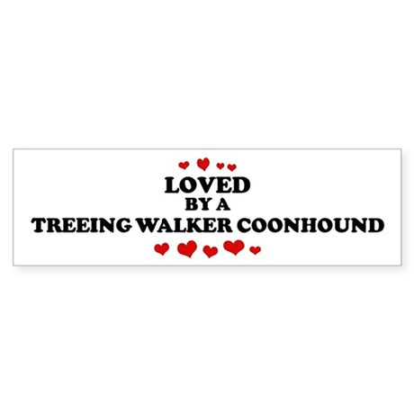 Loved: Treeing Walker Coonhou Bumper Sticker