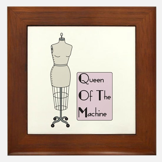 Queen Of The Machine Framed Tile