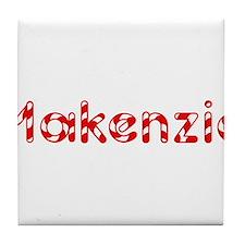 Makenzie - Candy Cane Tile Coaster