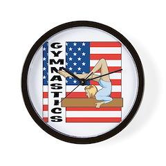 Patriotic Gymnastics Wall Clock