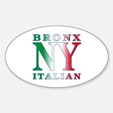 Bronx New York Italian Oval Decal