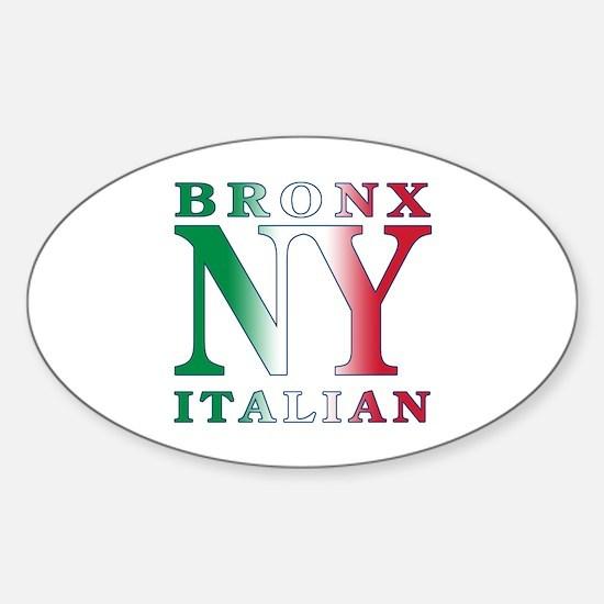 Bronx New York Italian Oval Decal