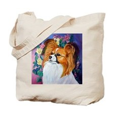 Papillon dog Cute Tote Bag