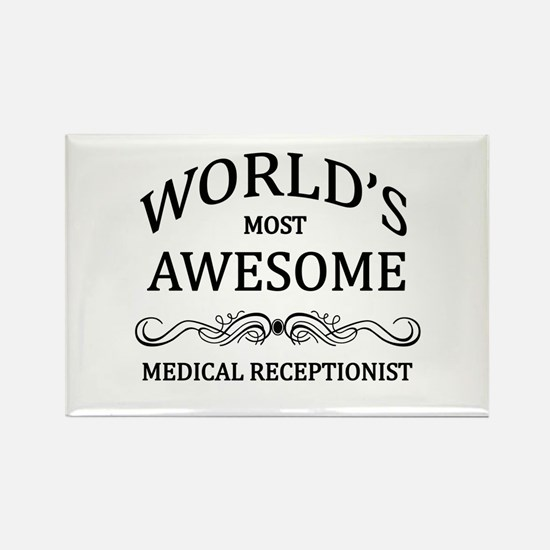 World's Most Awesome Medical Receptionist Rectangl