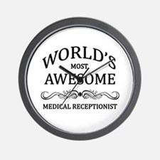 World's Most Awesome Medical Receptionist Wall Clo