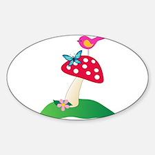 Toadstool w/ Butterfly & Bird Decal