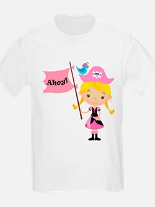 Pink Pirate Girl T-Shirt