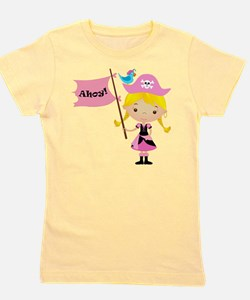 Pink Pirate Girl Girl's Tee