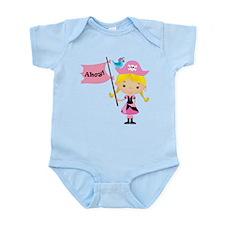 Pink Pirate Girl Infant Bodysuit