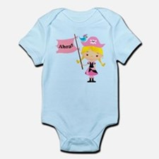 Pink Pirate Girl Infant Bodysuit