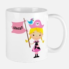 Pink Pirate Girl Mug