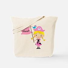 Pink Pirate Girl Tote Bag