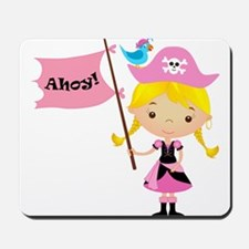 Pink Pirate Girl Mousepad
