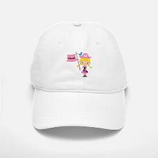Pink Pirate Girl Baseball Baseball Cap