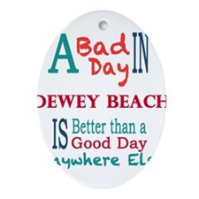 Dewey Beach Ornament (Oval)
