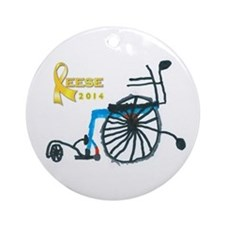2014 Reese Christmas Round Ornament (round)