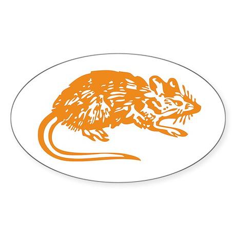 RAT Oval Sticker