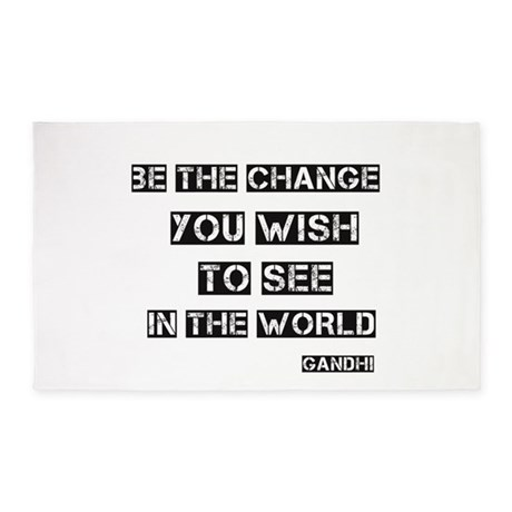 Be the Change 3'x5' Area Rug