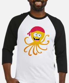 Happy Pirate Octopus Baseball Jersey