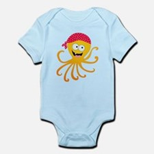 Happy Pirate Octopus Infant Bodysuit