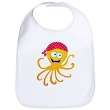 Happy Pirate Octopus Bib