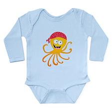 Happy Pirate Octopus Long Sleeve Infant Bodysuit