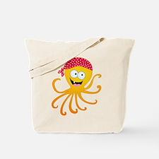 Happy Pirate Octopus Tote Bag