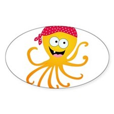 Happy Pirate Octopus Decal