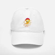 Happy Pirate Octopus Baseball Baseball Cap