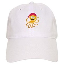 Happy Pirate Octopus Baseball Cap